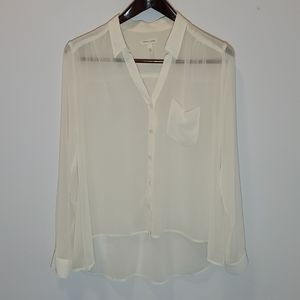 Silence + Noise Blouse Sheer